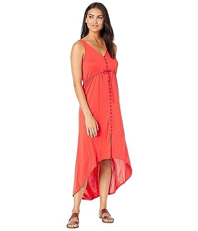 BCBGMAXAZRIA High-Low Knit Dress (Scarlet) Women