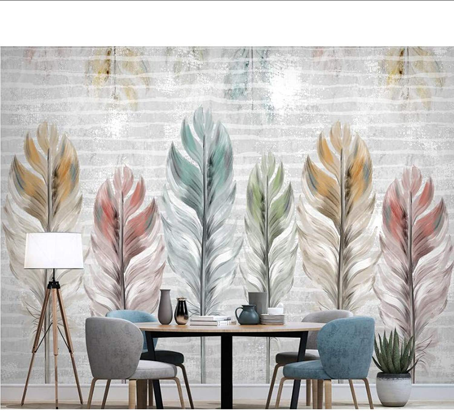 Meaosy Nordic colorful Modern 3D Pens Painted Paper Mural Wall Paper For Living Room Tv Wall Sofa Kids Wall Papers Home Decor-150X120Cm
