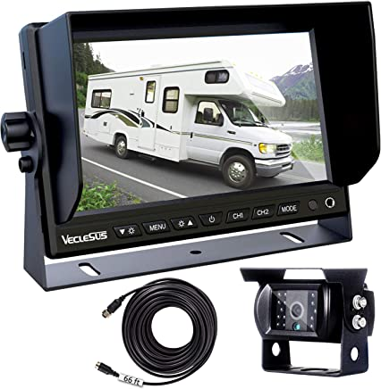 "$149 Get Backup Camera for Trucks, Two Installation Methods, No Interference, No Delay, 7"" Wide Screen and Night Vision IP68 Waterproof Backup Camera for Box Truck, Bus, Caravan, Camper Van, Boat, Yacht"