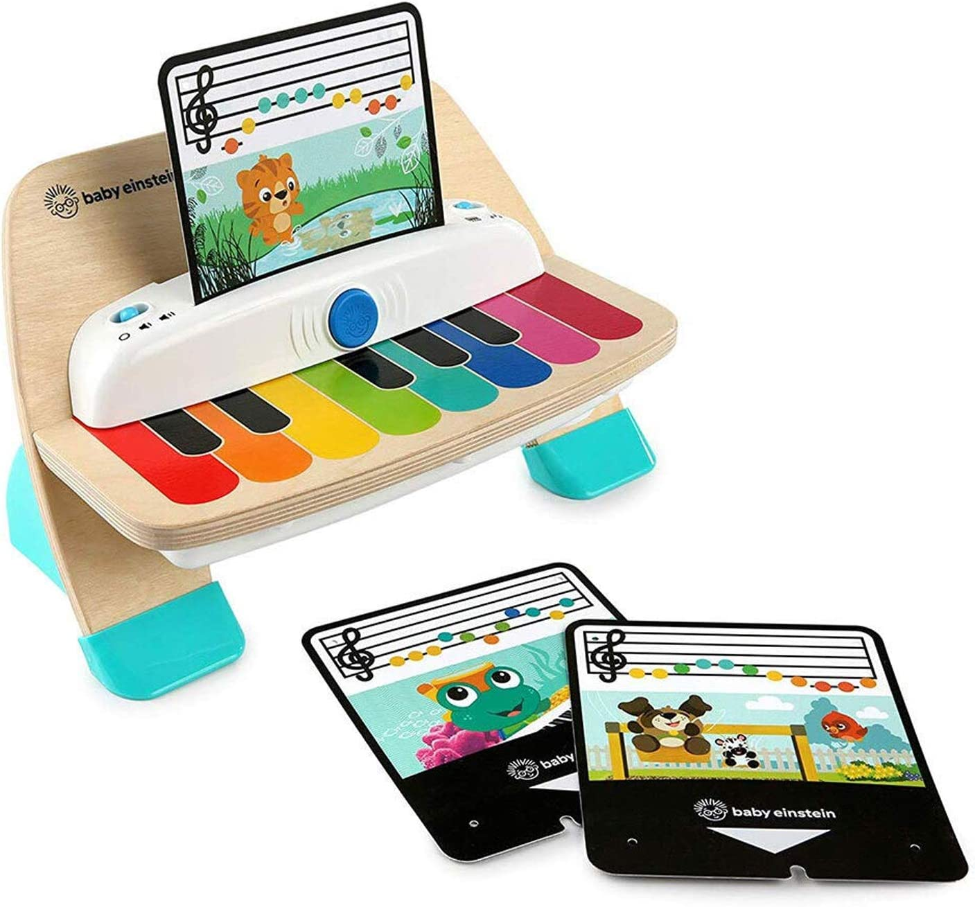 Baby Einstein Hape Magic Touch 6 Months and Up Toddler Baby 11-Key Wooden Piano Musical Play Toy