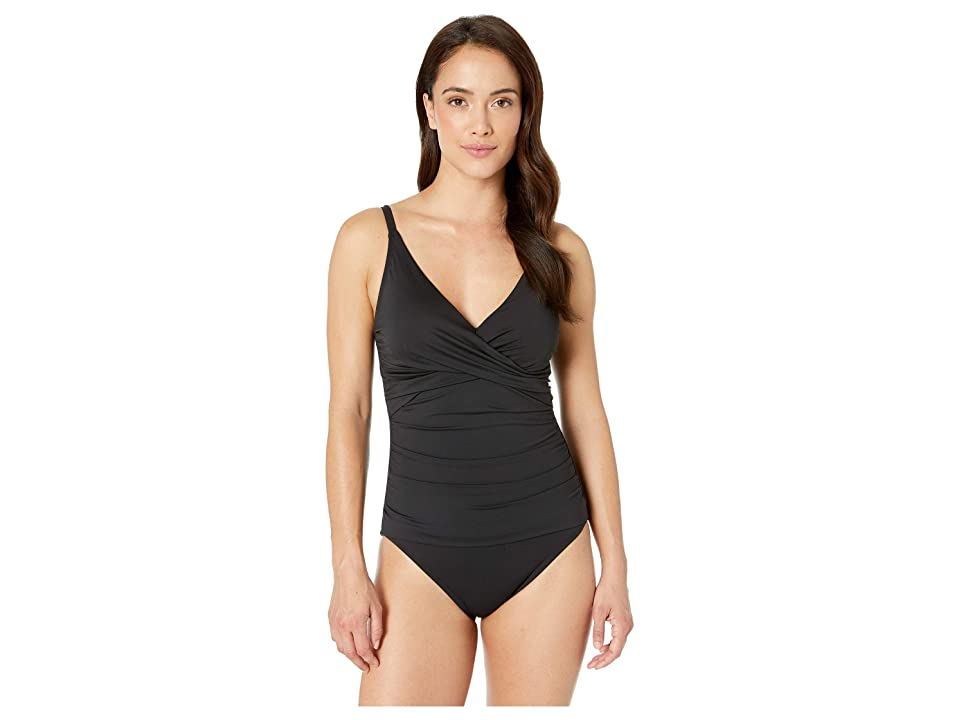 Tommy Bahama - Tommy Bahama Pearl Over the Shoulder Cross Front One-Piece