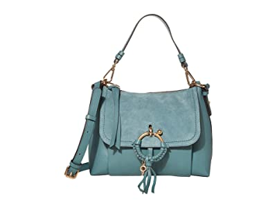 See by Chloe Joan Small Satchel (Mineral Blue) Satchel Handbags