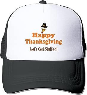 Happy Thanksgiving Unisex Adjustment Mesh Trucker Cap Hat Black (5 colors)
