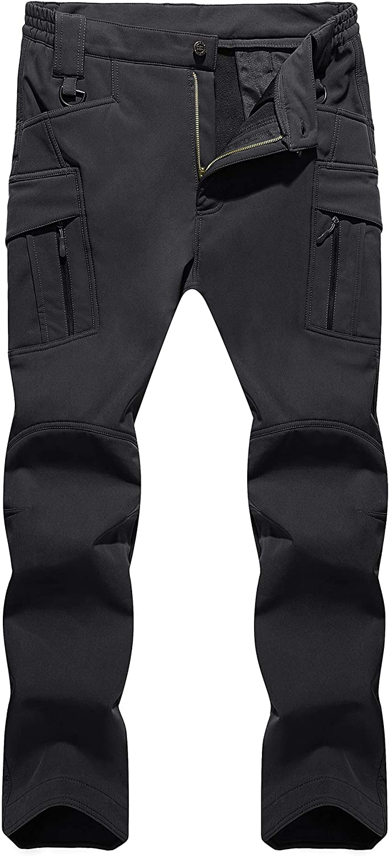 TACVASEN Men's Fleece Max 69% OFF Factory outlet Lined Pants Softshell Ski Militar Tactical