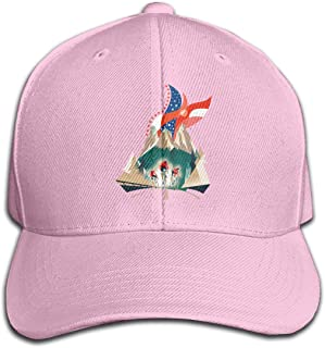 MagniFun Hat Betsy Ross Flag Casquette, Printed Peaked Snapback Baseball Cap Unisex for Outdoors Sport