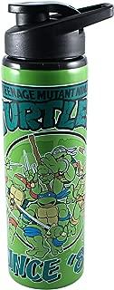 Silver Buffalo NT6789ST Teenage Mutant Ninja Turtles Since '84 Stainless Steel Water Bottle, 25-Ounces