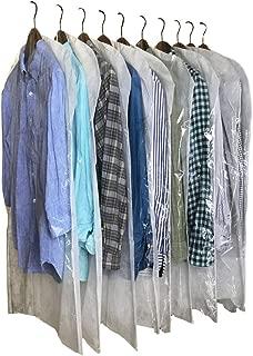 InikoLife 洋服 カバー ロングサイズ 日本製 クリアタイプ 10枚組 前面はハッキリ見えるクリア素材 背面は通気性抜群の不織布素材 2素材を組み合わせたアイデア洋服カバー 大切な衣類を安心保管