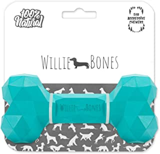 Willie Bones | Modern Dog Chew Toy | Almost Indestructible Dog Toys for Aggressive Chewers | Tough + Durable + Strong Natu...