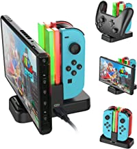 Nintendo Switch Joy-Con Charging Dock, AairHut Charging Dock Stand Station for Switch Joy-Con and Pro Controller with Charging Indicator and Type C Charging Cable