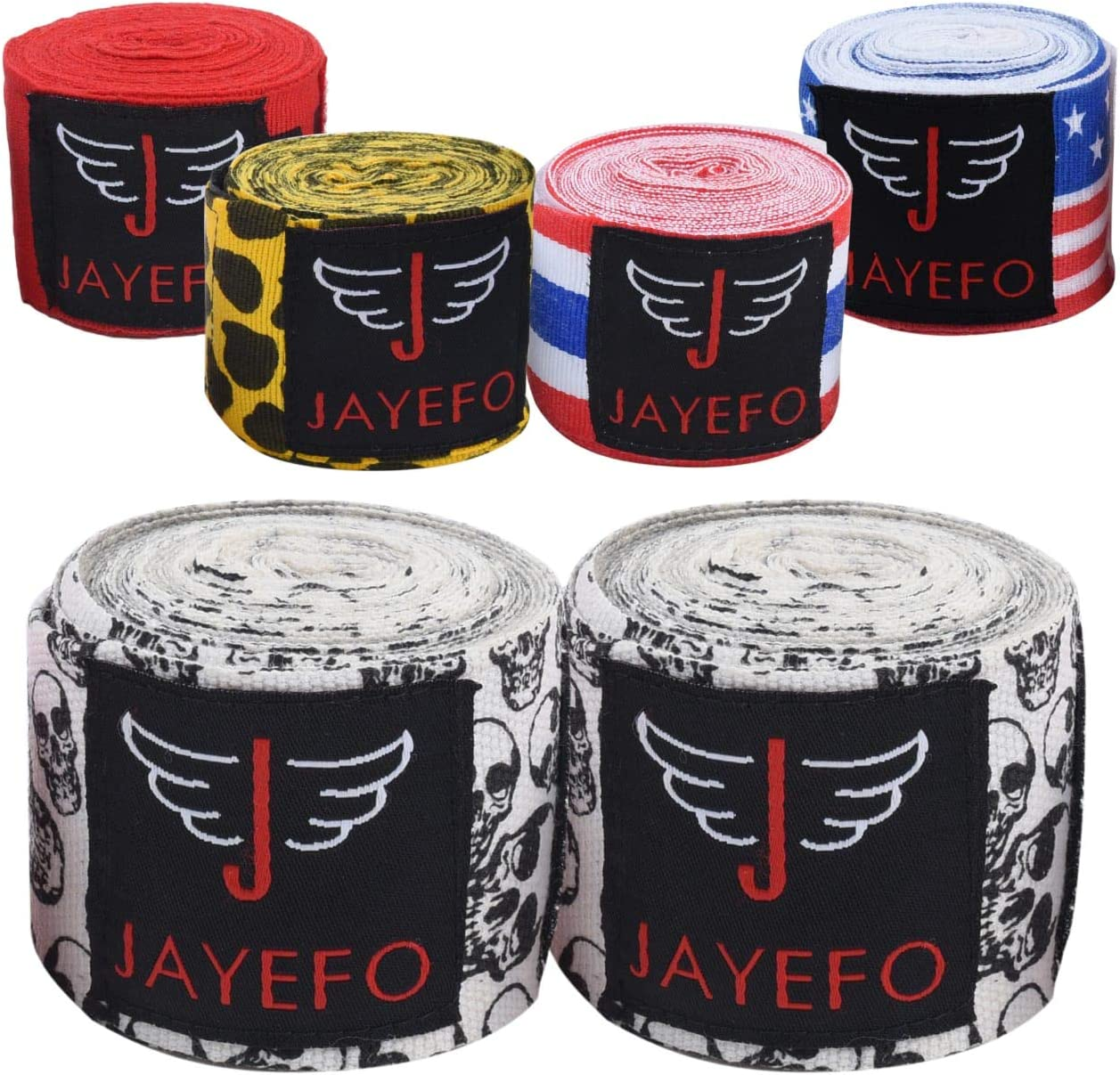 Jayefo Long Beach Mall Sports Hand Wraps OFFer 180 Inner Martial Gloves Inches Boxing