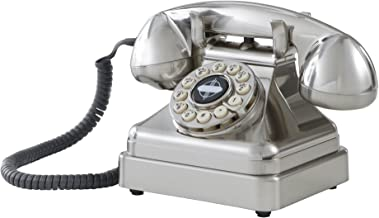 Crosley CR62-BC Kettle Classic Desk Phone with Push Button Technology, Brushed Chrome