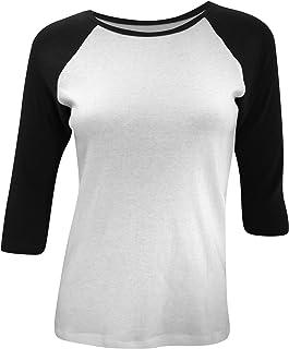 e252d6b240 Bella Tela Baby a Costine 3/4 Contrast a Maniche Raglan t-Shirt