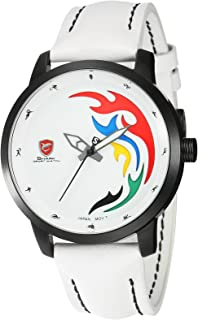 Shark Rio Limited Edition Men's Sport Watch Limmited Edition Quartz White Leather Band