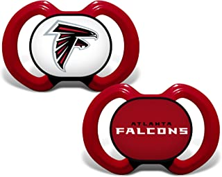 Baby Fanatic NFL Legacy Infant Pacifiers, Atlanta Falcons Pink, 2 Pack