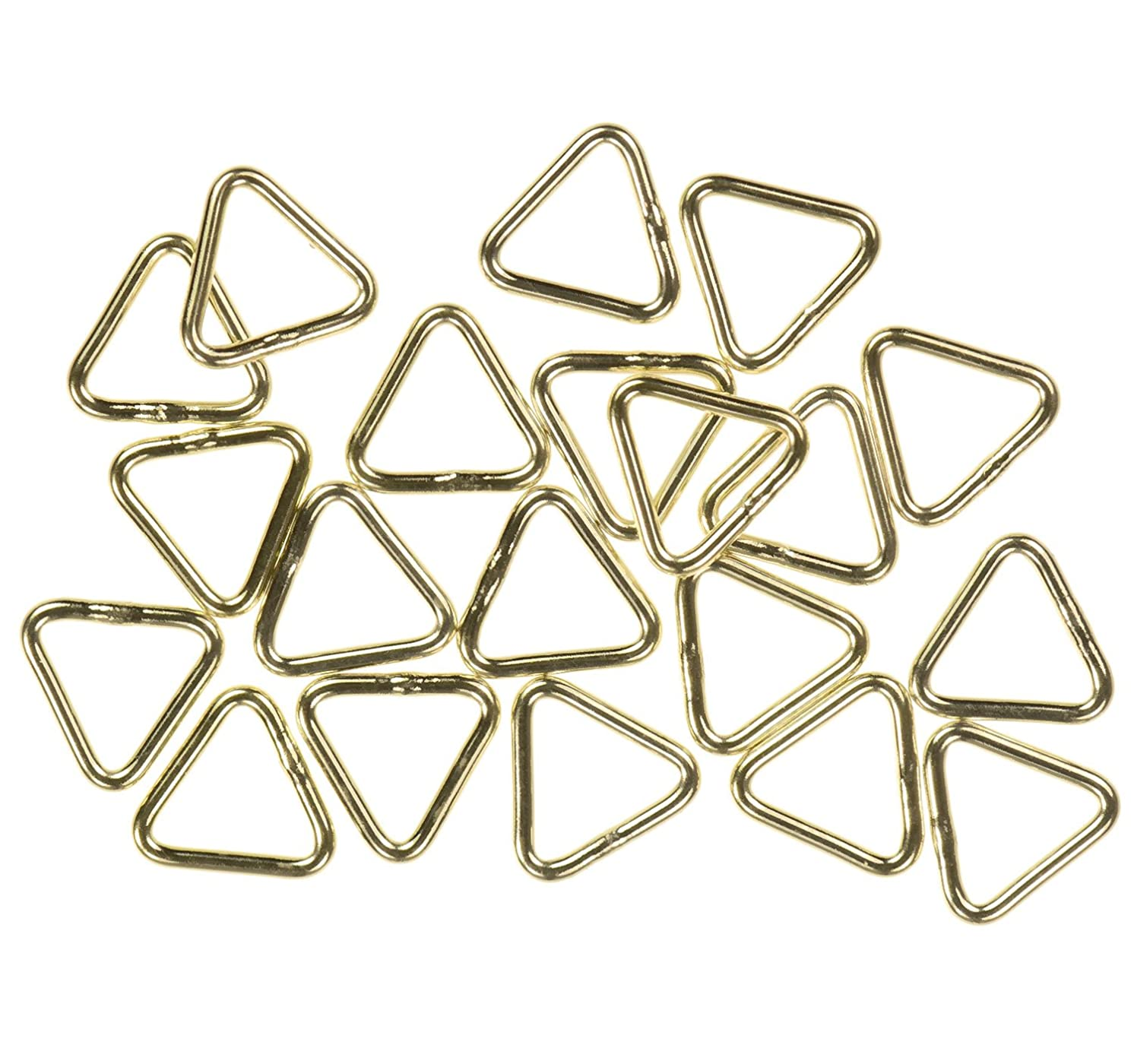 uGems 24 14K Gold Filled Triangle Jump Rings 22ga 5mm Closed Ring