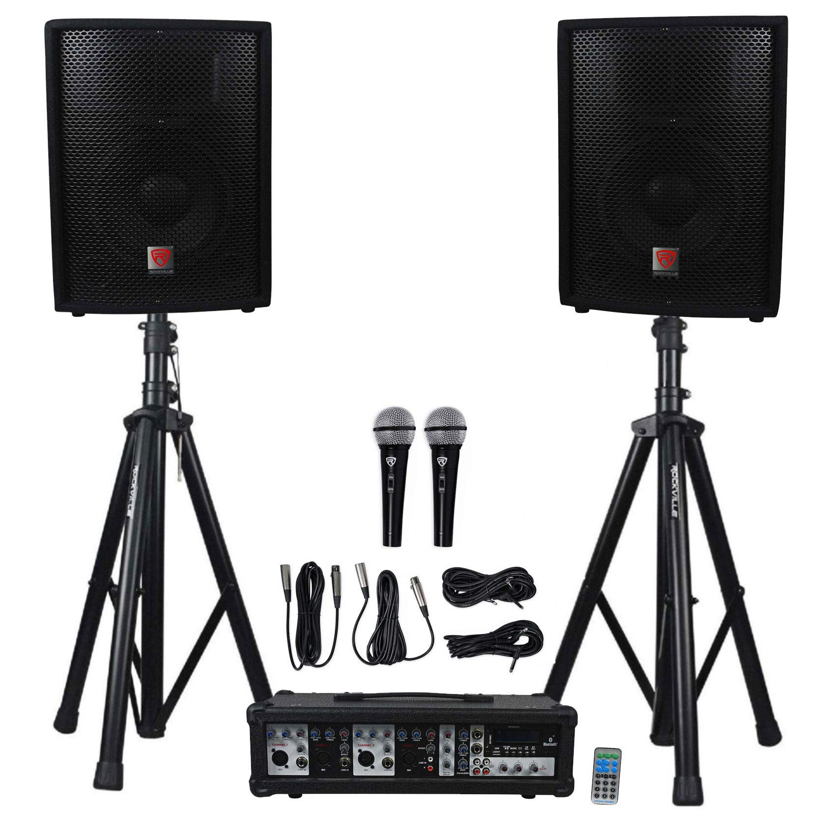 Rockville RPG2X10 Package Speakers Bluetooth