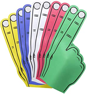 FUN FAN LINE - Jeu de Mains géant Multicolore en Caoutchouc EVA. Pack pour Les célébrations, Les Mariages, Les fêtes et Le...