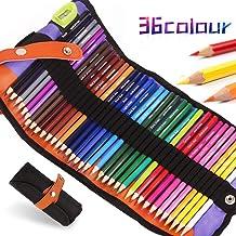 Lápices para colorear de acuarela, 36 colores juego de lápices de arte para diario, dibujo, colorear, álbumes de recortes, regalo perfecto ideal para artistas, niños, bocetos, estudiantes
