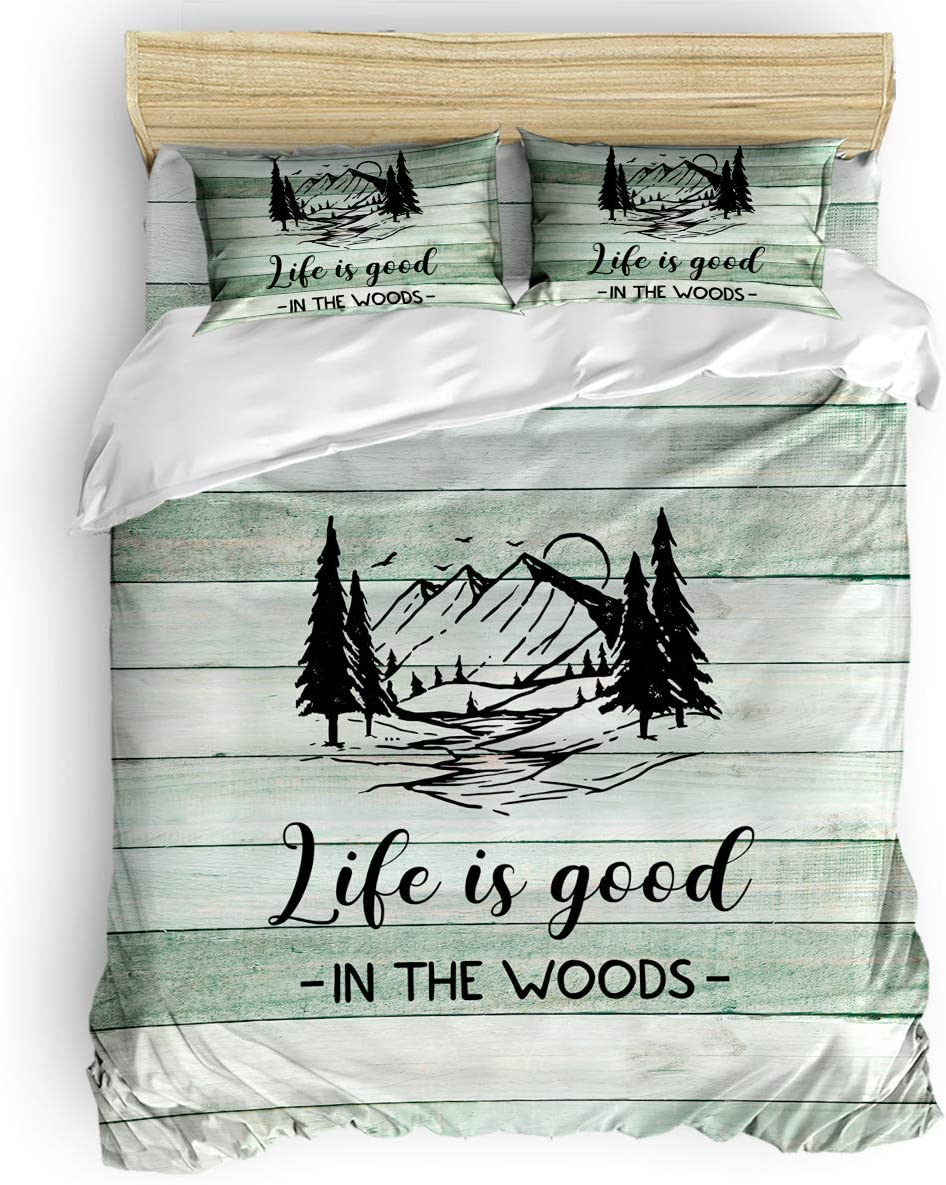 ARTSHOWING Camping 4PCS National products Duvet Cover Set Comforter Size King C Philadelphia Mall 1
