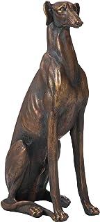 Glitzhome GH20381 Greyhound Dog Garden Statue Outdoor Sculpture, Right