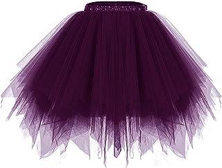 Meetjen Petticoat Sottogonna Tulle Minigonna Donna Tutu Danza Balletto Classico Principessa Custume