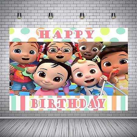 Birthday Backdrop Theme Party Photo Background Baby Shower Newborn Orange Photography Backdrops Studio Decoration