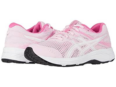 ASICS Kids GEL-Contend 6 (Little Kid/Big Kid) (Cotton Candy/White) Girl