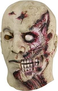molezu Halloween Novelty Mask Costume Party Latex Horror Mask Gray