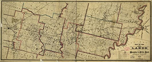 1878 Railroad Map of Arkansas. Map covers part of Arkansas between Memphis and Little Rock showing drainage, prairie lands, counties, cities and towns, township and county lines, county roads, and the railroads.