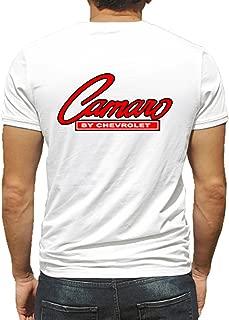 Camaro Chevy GM Hot Rod Rat Nostalgia Drag Race Racing NHRA White Short Sleeve Shirt