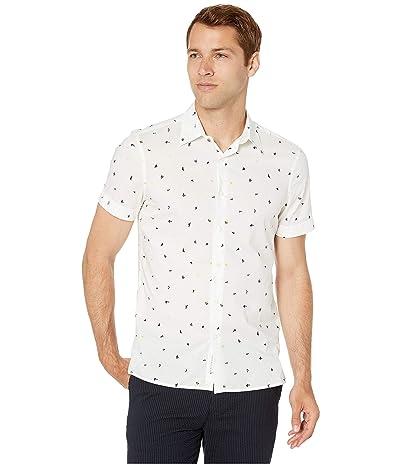 Perry Ellis Portfolio Slim Fit Mini Confetti Print Shirt (Eclipse) Men