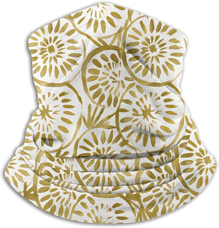Medallions Gold Bandanas Neck Gaiter Face Mask Scarf Face Shield