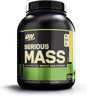 Optimum Nutrition Serious Mass, High Protein Weight Gain Powder, Banana, 6 lbs (2.72 kg)