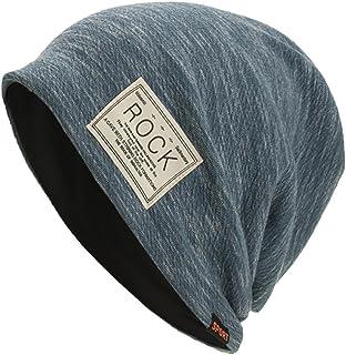 Smallrabbit Cotton Beanies for Women Striped Warm Winter Beanie Headwraps Slouchy Hat Sport (Blue)