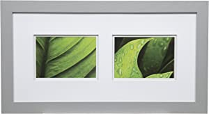 Gallery Solutions Wall Mount Double Mat Picture Frame, 2-5