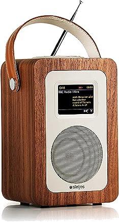 Steljes Audio SA60 Radio Dab Internet Bluetooth, Radio WiFi Portatile, Internet Radio con WiFi per iOS e Cellulare Android, Amplificatore per Casa o Esterno, Colore Noce