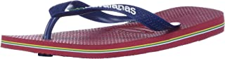 Havaianas Men's Brazil Logo Flip Flop Sandal, Red, 11-12