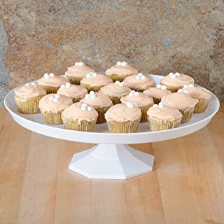 Fineline - Bandeja para tartas (25 cm, plástico), color blanco