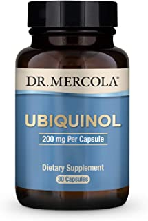 Dr. Mercola, Ubiquinol Dietary Supplement, 200 mg, 30 Servings (30 Capsules), Supports Overall Health and Wellness, Non GM...