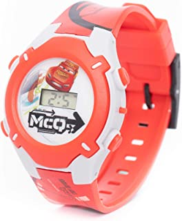 Disney Cars Boys Digital Dial with Rotating Running light Wristwatch - SA7177 Cars
