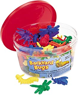 Learning Resources Backyard Bugs Counters, Educational Counting and Sorting Toy, Set of 72,Multi-color