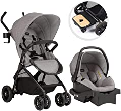Evenflo Sibby Travel System with LiteMax 35 Infant Car Seat, Mineral Gray