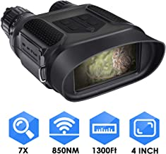 """ANNLOV Digital Night Vision Binoculars,7x31mm Infrared Spy Gear 850nm IR - 4""""Large Screen 1300ft Viewing Range Take Photos & Videos with 8G Memory Card Night Vision Goggles for Hunting & Surveillance"""
