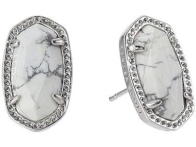 Kendra Scott Ellie Earring (Rhodium/White Howlite) Earring