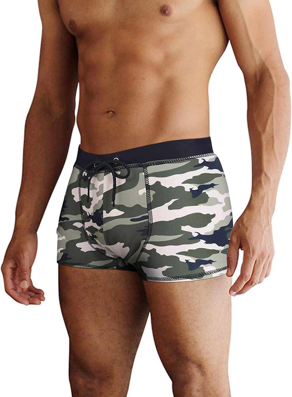 COOFANDY Men's Square Leg Swim latest Al sold out. Athletic Printed Briefs Swimsuit