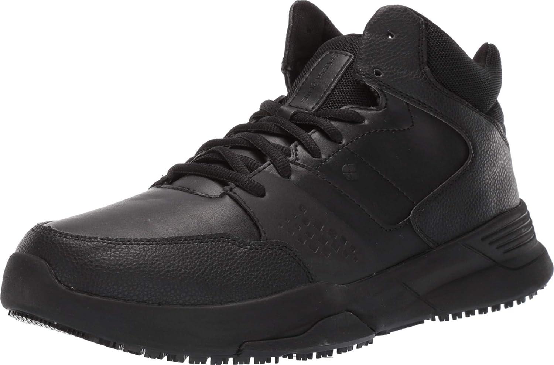 Shoes security for Crews Hart Men's NEW Slip Resistant Work Service Food Sne