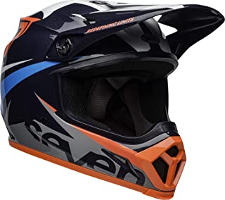 Bell MX-9 MIPS Off-Road Motorcycle Helmet (Seven Ignite Gloss Navy/Coral, Large)