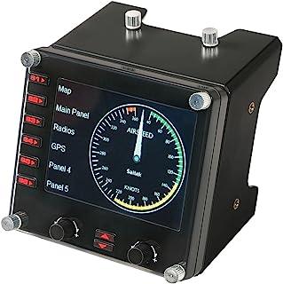 Painel Multi-Instrumento Flight em LCD para Simulação Profissional de Voo, Logitech G, Joysticks e Controles para Computador