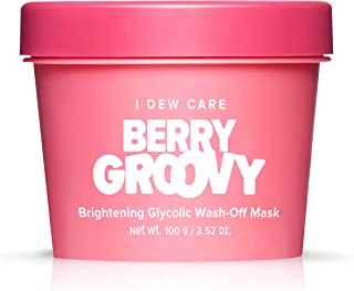 I DEW CARE Berry Groovy Face Mask | Brightening Glycolic Acid Wash-Off Mask with Glycerin | Korean Skincare, Facial Treatm...
