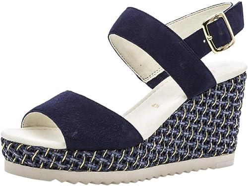 Gabor 25.790 Femme,Sandales compensées,Chaussures d'été,Confortable,Plat, d'été,Confortable,Plat,  en solde 70% de réduction